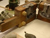 Stampo per pipa in terracotta