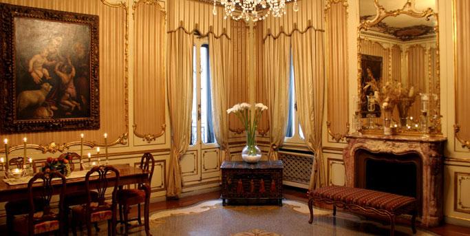 Originali tessuti veneziani soluzione ideale per diversi hotel di Venezia in stile veneziano